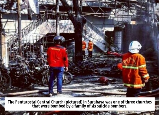 Family bombs churches in Indonesia
