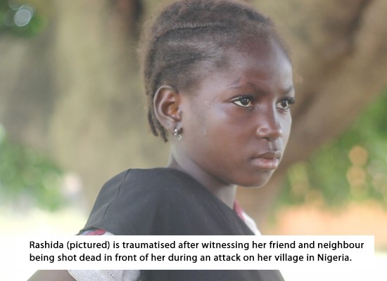 Little girl traumatised by Fulani attack in Nigeria